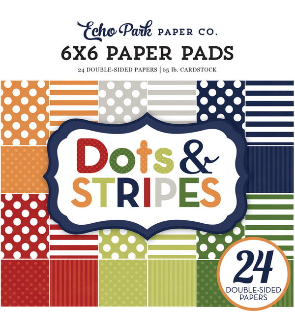 Echo Park Paper Little Boy Dots and Stripes 6 x 6 Paper Pad Cover Design