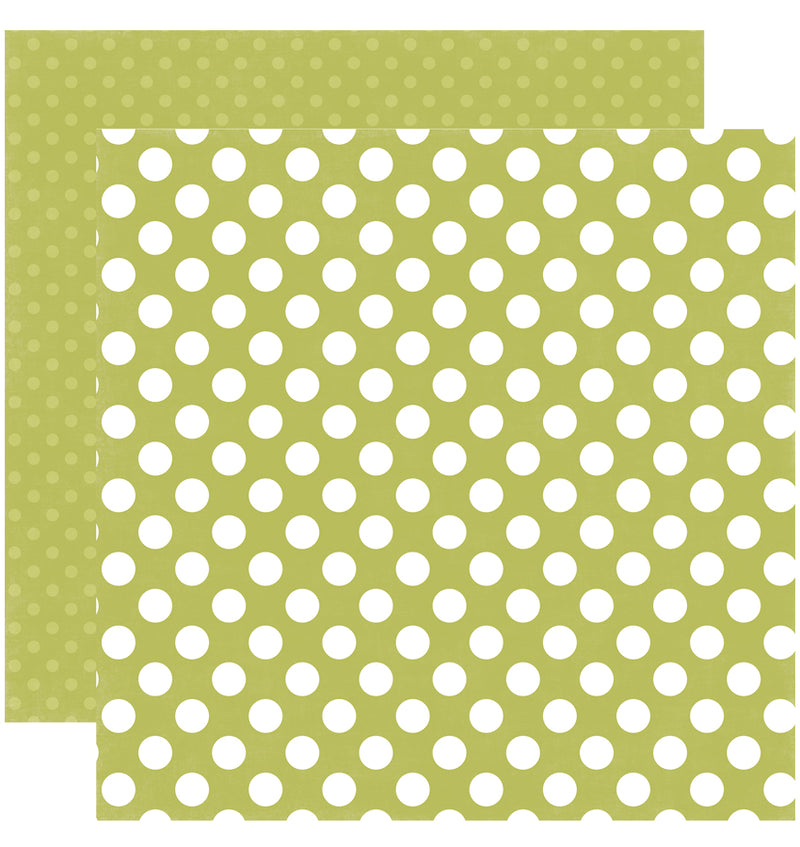 Echo Park Paper Little Boy Dots and Stripes 6 x 6 Paper Pad, Inchworm Dots Double-Sided Paper Design