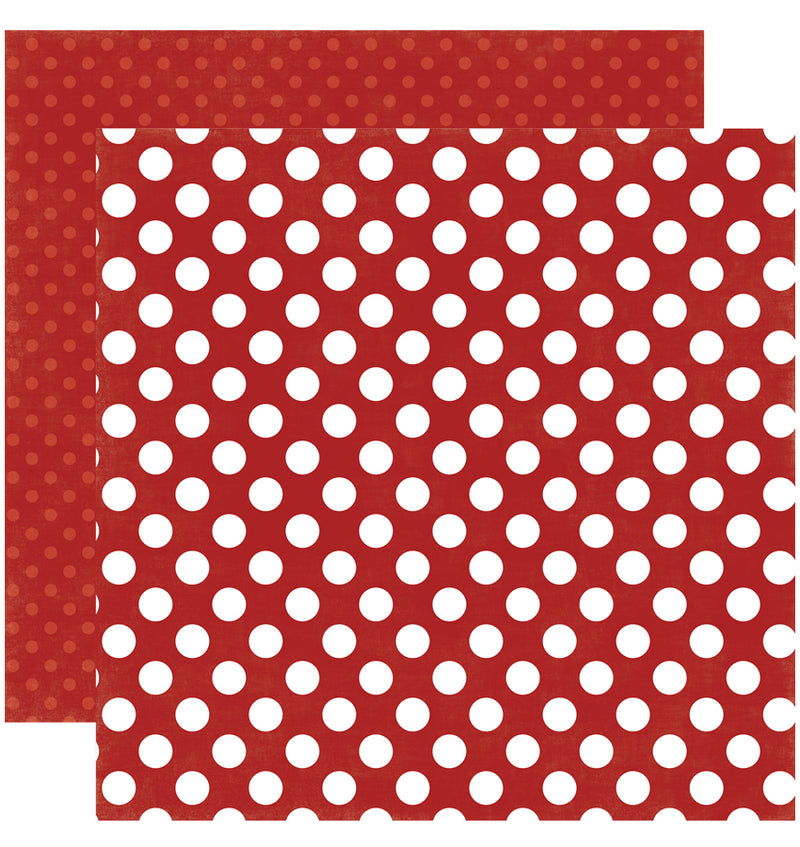 Echo Park Paper Little Boy Dots and Stripes 6 x 6 Paper Pad, Red Fire Truck Dots Double-Sided Paper Design