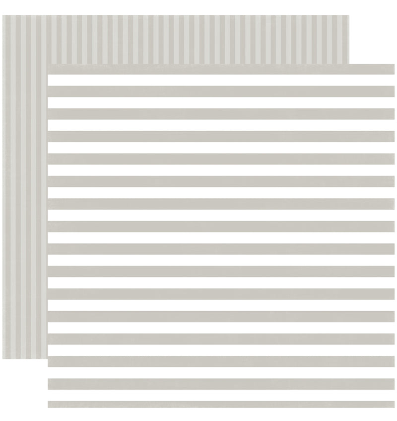 Echo Park Paper Little Boy Dots and Stripes 6 x 6 Paper Pad, Greyish Sideway Stripe Double-Sided Paper Design