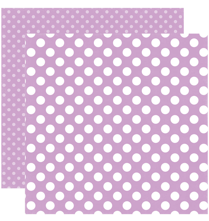 Echo Park Paper Little Girl Dots and Stripes 6 x 6 Paper Pad, Lilac Dots Double-Sided Paper Design