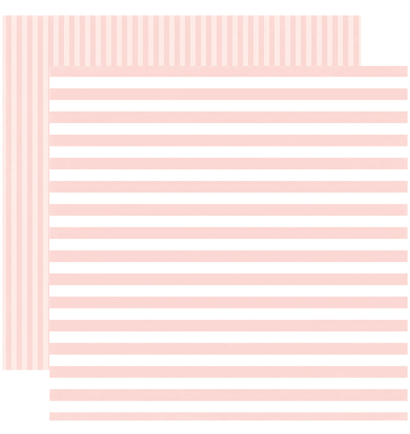 Echo Park Paper Little Girl Dots and Stripes 6 x 6 Paper Pad, Rose Petal Stripes Double-Sided Paper Design