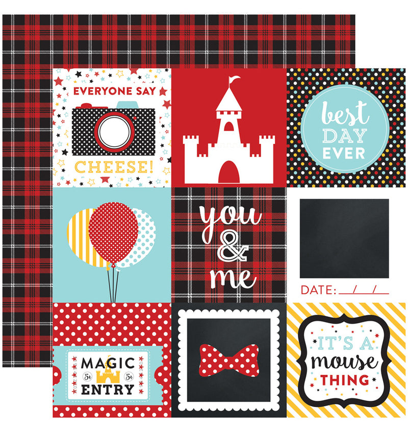 "Echo Park Paper Magical Adventure Collection Kit, 4"" x 4"" Journaling Cards Double-Sided Cardstock Patterned Paper"