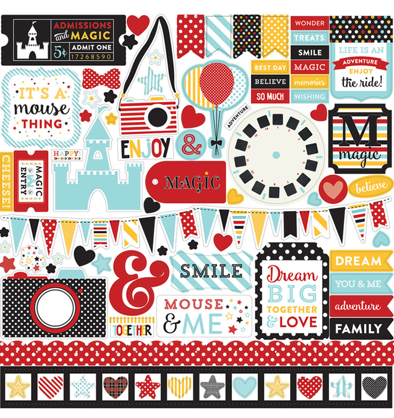 Echo Park Paper Magical Adventure Collection Kit, Element Sticker Sheet