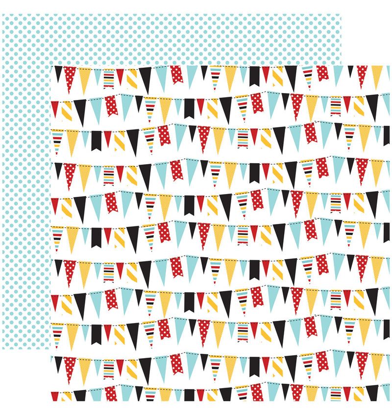 "Echo Park Paper Magical Adventure Collection Kit, 12"" x 12"" Festive Banners Double-Sided Cardstock Patterned Paper"