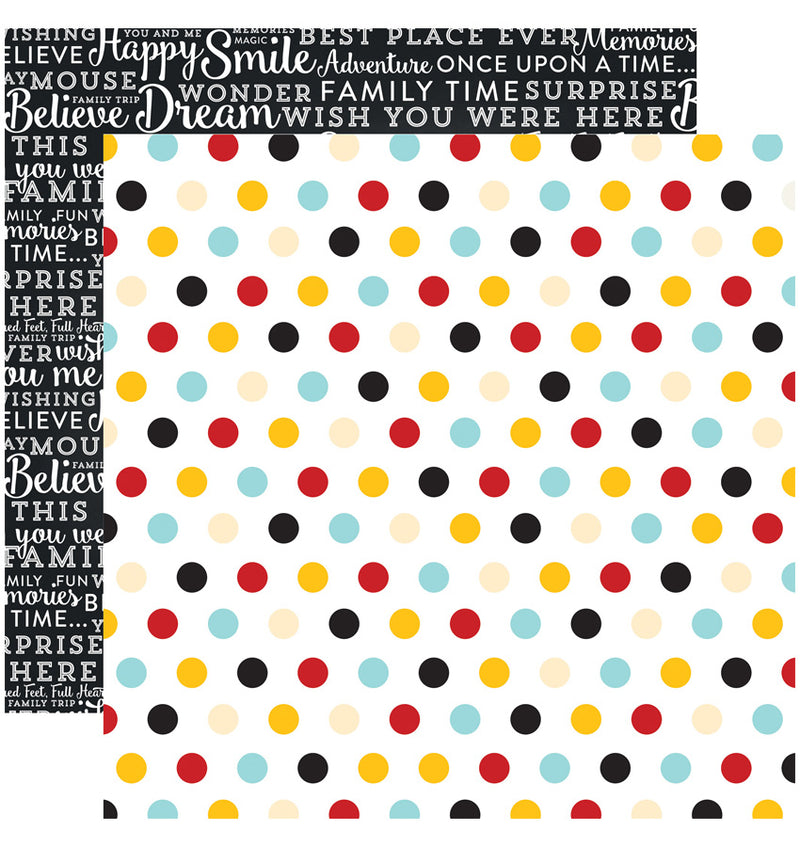 "Echo Park Paper Magical Adventure Collection Kit, 12"" x 12"" Multi-Dots Double-Sided Cardstock Patterned Paper"