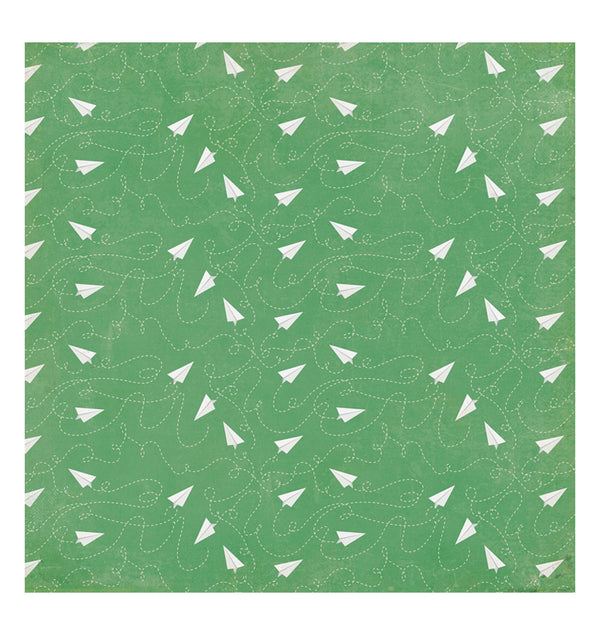 Echo Park Paper Airplanes 12 x 12 Double Sided Paper Front