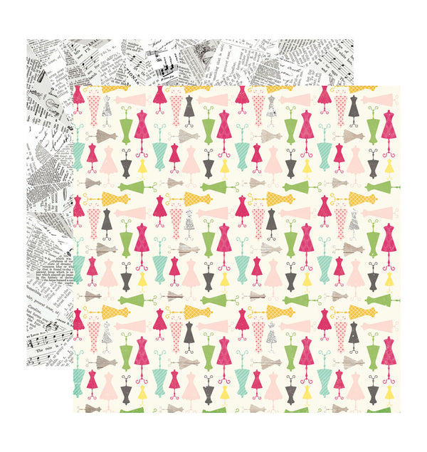 Echo Park Paper Darling Dresses 12 x 12 Double Sided Paper