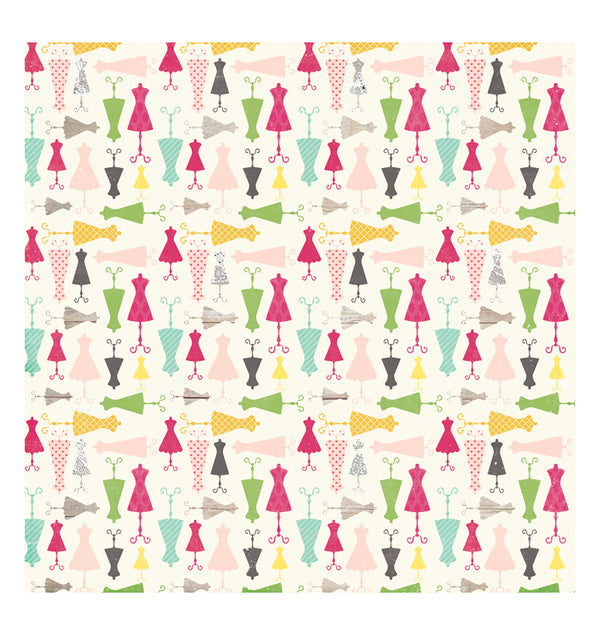 Echo Park Paper Darling Dresses 12 x 12 Double Sided Paper Front