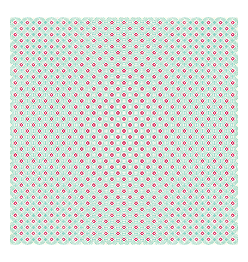 Echo Park Paper Rows of Bows 12 x 12 Double Sided Patterned Cardstock Paper Back