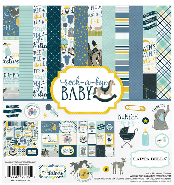 Echo Park Paper Rock-A-Bye Baby Boy Collection Kit Cover