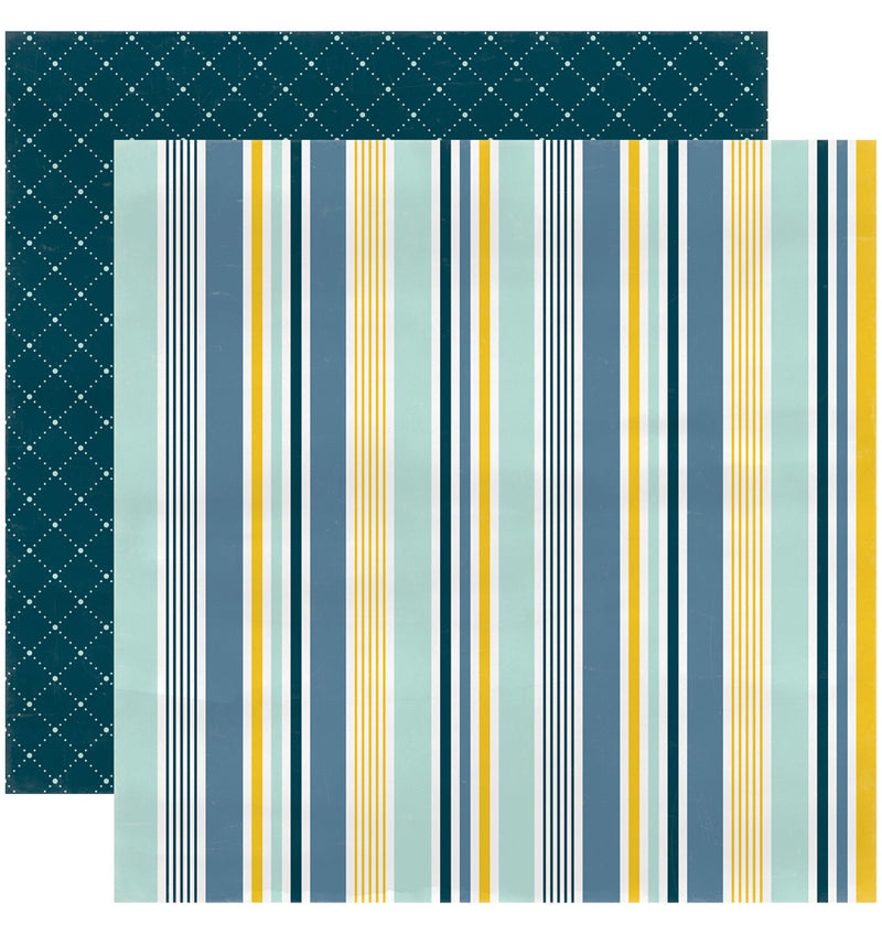 "Echo Park Paper Rock-A-Bye Baby Boy Collection Kit, 12"" x 12"" Our Little Man Double-Sided Cardstock Patterned Paper"