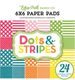 Echo Park Paper Spring Dots and Stripes 6 x 6 Paper Pad Cover Design