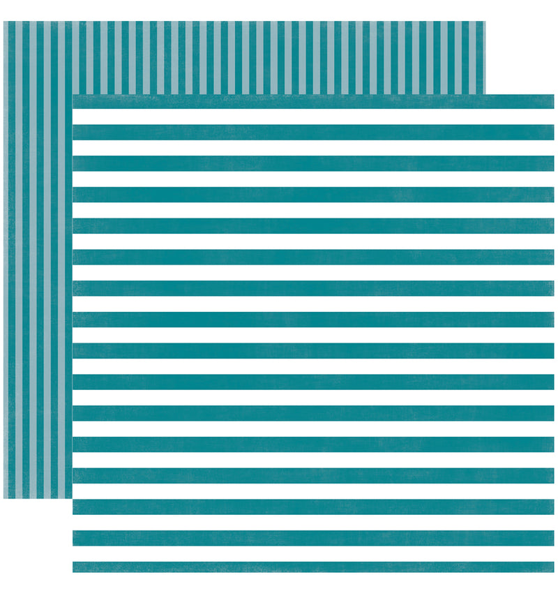 Echo Park Paper Spring Dots and Stripes 6 x 6 Paper Pad, Costal Crush Stripes Double-Sided Patterned Paper