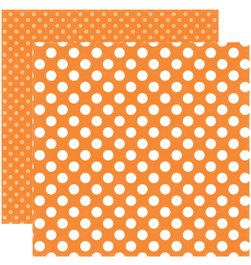 Echo Park Paper Spring Dots and Stripes 6 x 6 Paper Pad, Tangerine Tango Dots Double-Sided Patterned Paper
