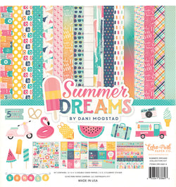 Echo Park Summer Dreams Collection Kit, 12x12 Paper & Sticker Sheet
