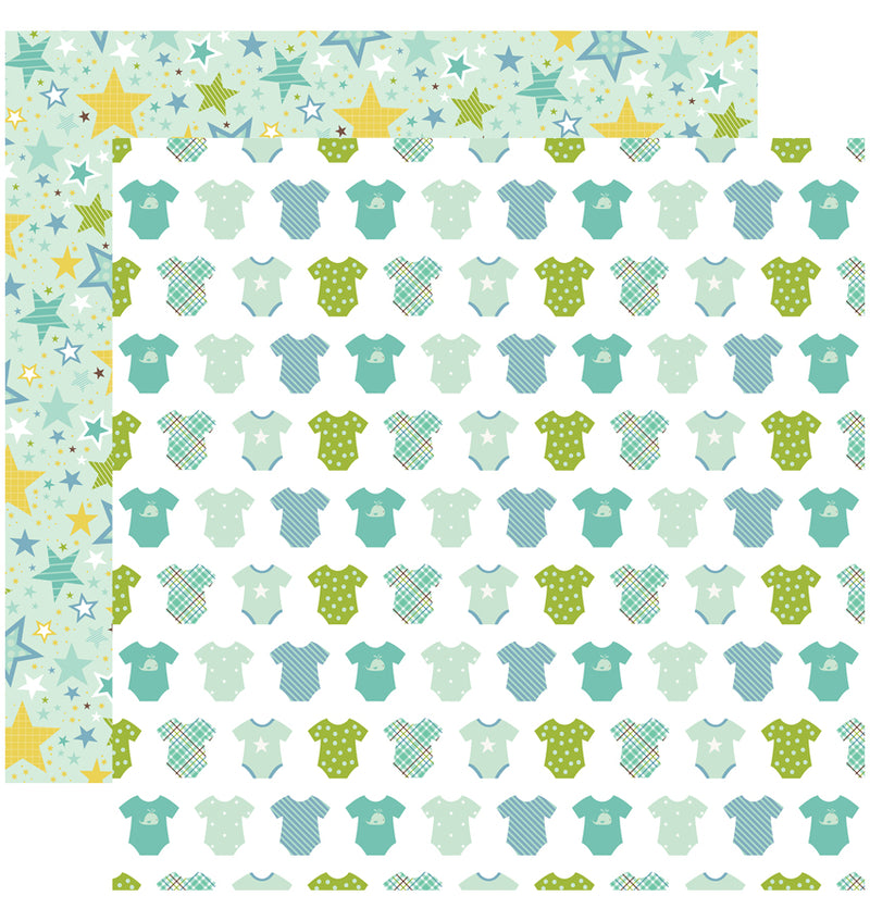 Echo Park Sweet Baby Boy Collection Kit, Boy Oh Boy 12x12 Paper