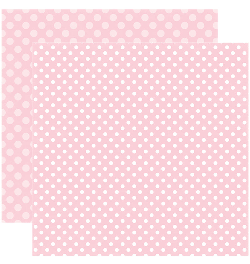 Echo Park Paper Valentine Dots and Stripes 6 x 6 Paper Pad, Bubblegum Bliss Dots Double-Sided Patterned Paper