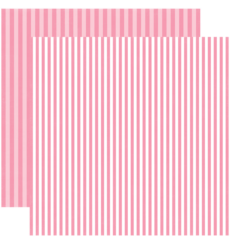 Echo Park Paper Valentine Dots and Stripes 6 x 6 Paper Pad, Totally Taffy Stripes Double-Sided Patterned Paper