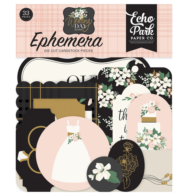 Echo Park Wedding Day Ephemera 33pcs