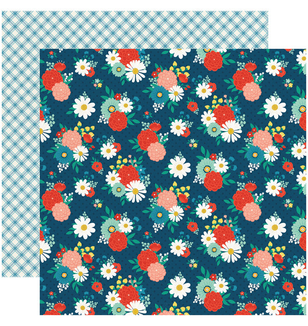 Echo Park Good Day Sunshine 6x6 Paper Pad - Festive Floral Paper Design