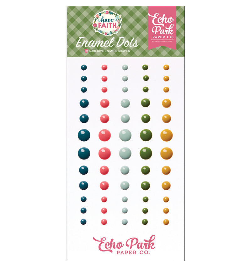 Echo Park Have Faith Enamel Dots Embellishment