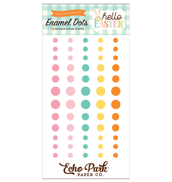 Echo Park Hello Easter Enamel Dots Embellishment