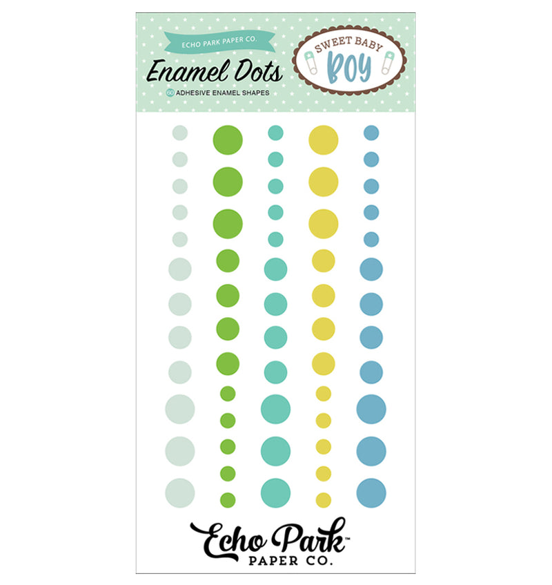 Echo Park Sweet Baby Boy Enamel Dots Embellishment