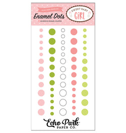 Echo Park Sweet Baby Girl Enamel Dots Embellishment