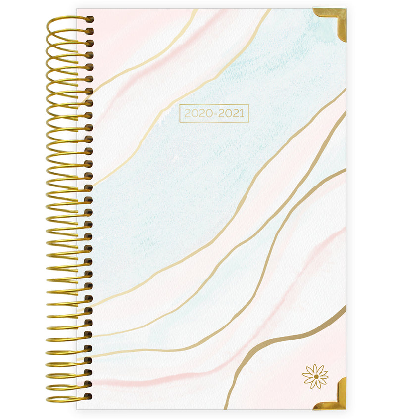 Ethereal Marble 2020-2021 Hard Cover Daily Planner