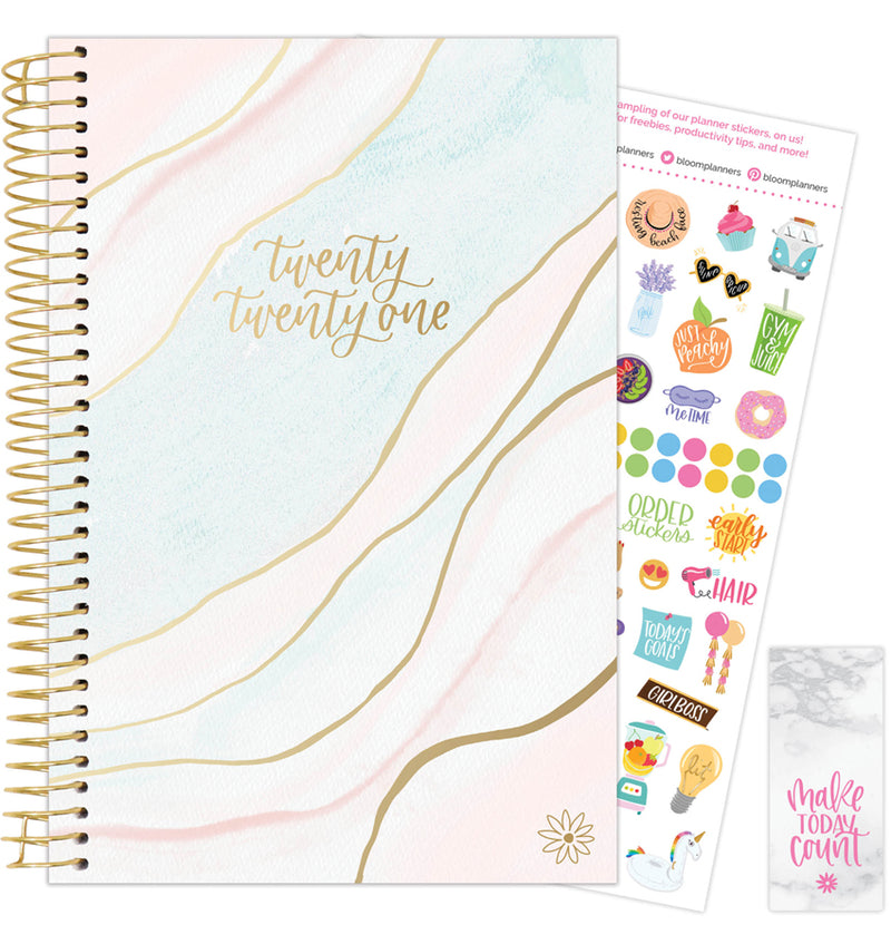 Ethereal Marble 2021 Soft Cover Daily Planner