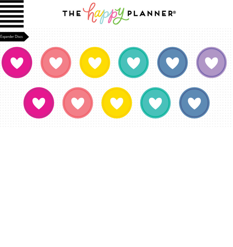 Expander Happy Planner Rainbow Discs (11pcs) Designs & Colors