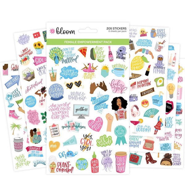 Female Empowerment Planner Sticker Sheets 6pcs