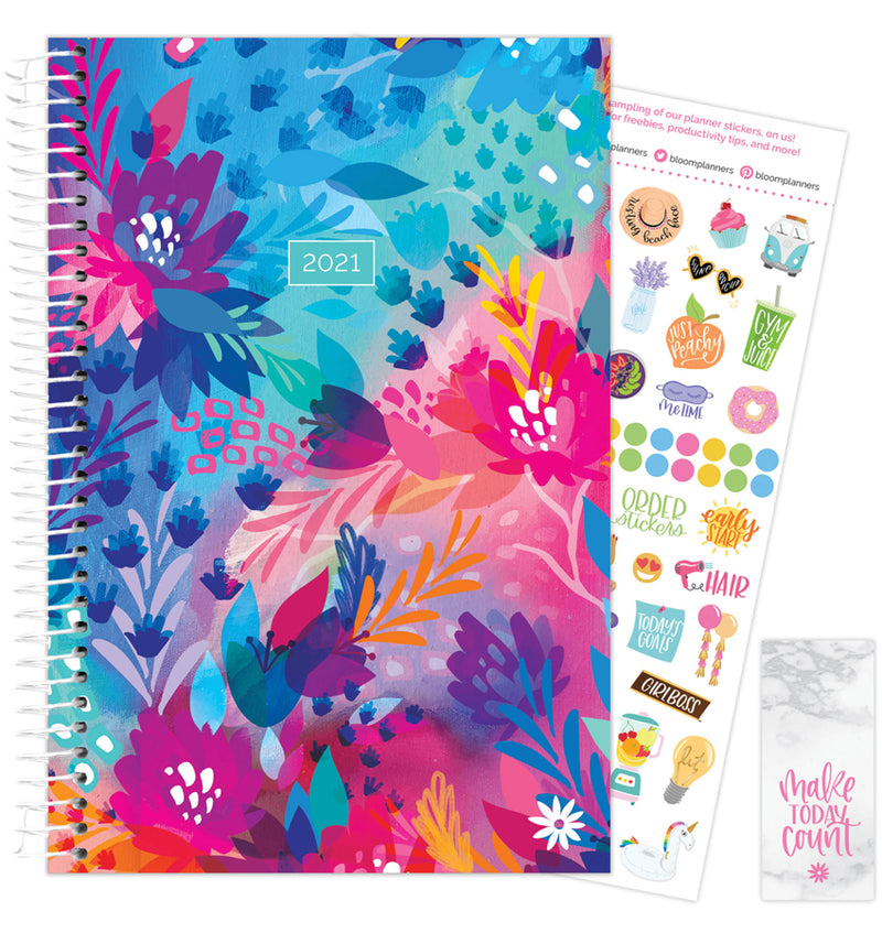 Floral Jungle 2021 Soft Cover Daily Planner