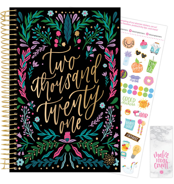 Folky Floral 2021 Soft Cover Daily Planner