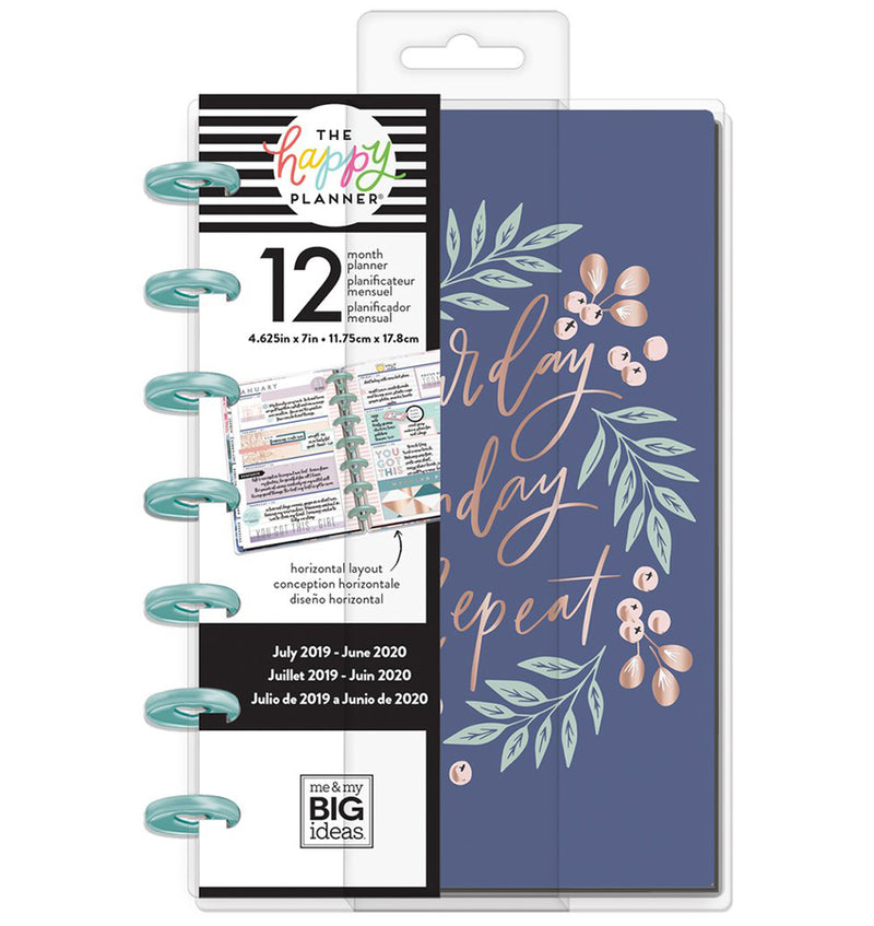 Garden Blooms 2019 - 2020 Mini Happy Planner (12 Months) Cover with Tab