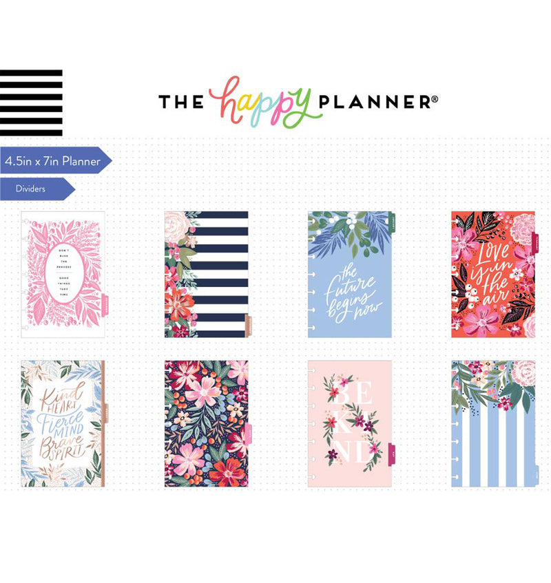 Garden Blooms 2019 - 2020 Mini Happy Planner (12 Months) Dividers