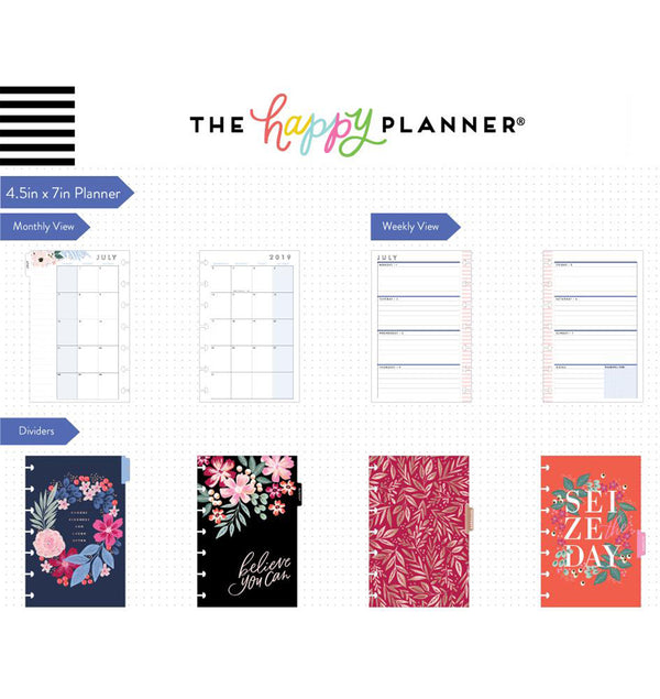 Garden Blooms 2019 - 2020 Mini Happy Planner (12 Months) Page Layouts & Dividers