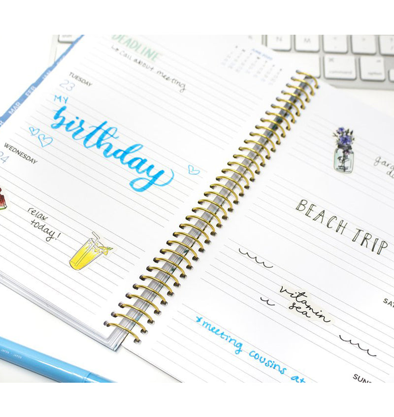 Geode 2019-2020 Bloom Soft Cover Daily Planner Weekly View