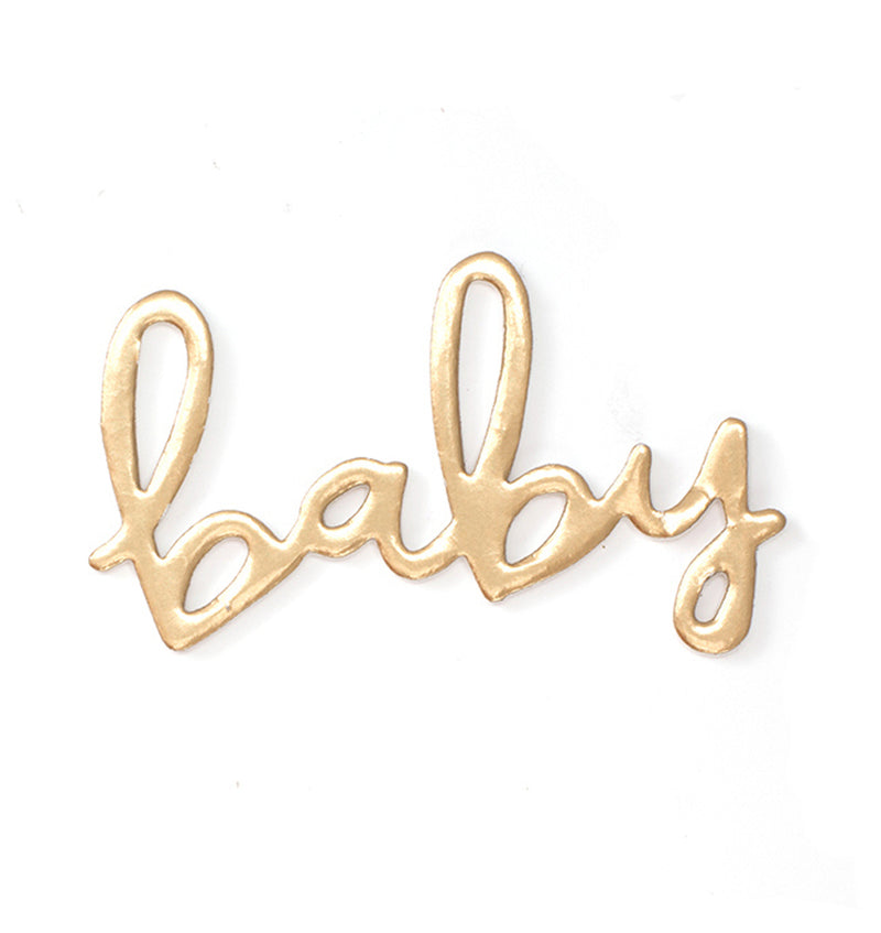 American Crafts Baby Girl Gold Foil Foam Thickers Wordings