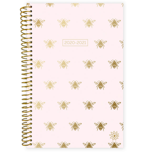 Gold Bees 2020-2021 Soft Cover Daily Planner