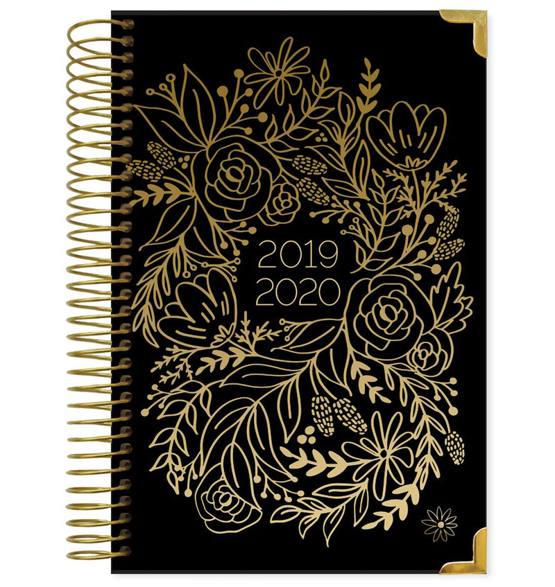 Gold Embroidery 2019-2020 Bloom Hard Cover Daily Planner