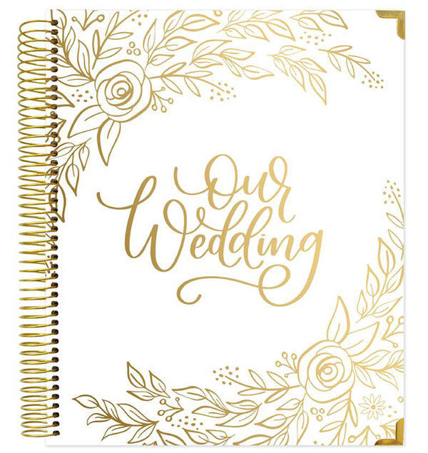 Bloom's Gold Floral Hardcover Wedding Planner and Calendar