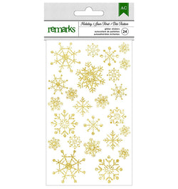 Christmas Gold Foil Snowflake Sticker