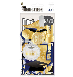 DCWV Graduation Ephemera with Foil Accents
