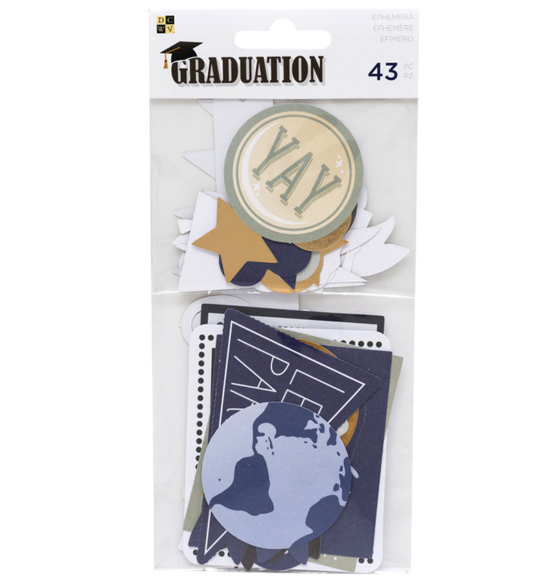 DCWV Graduation Ephemera with Foil Accents Front