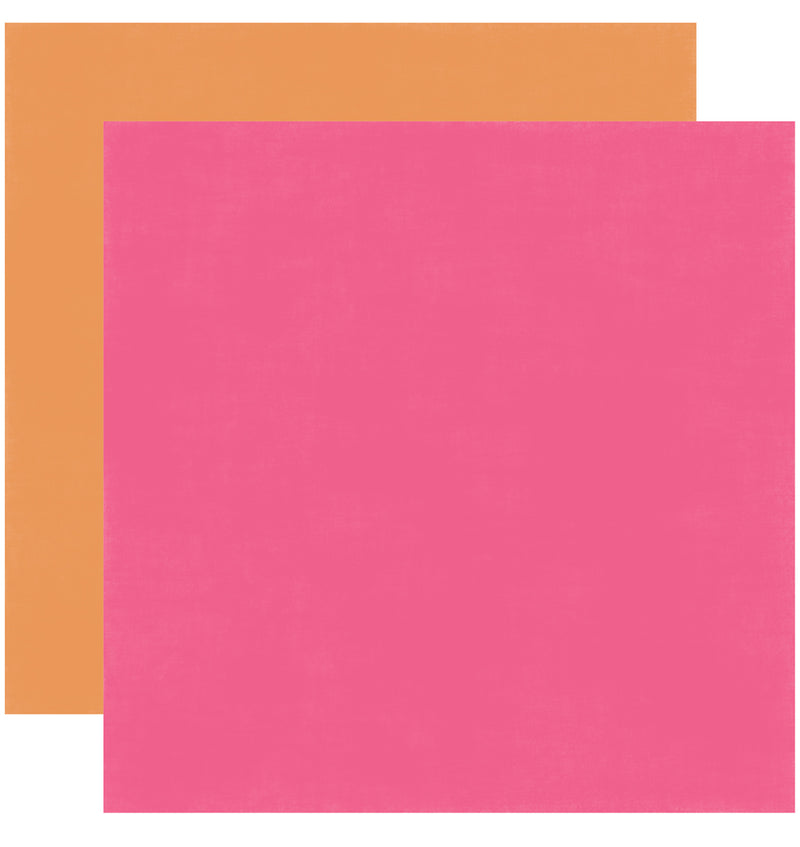 Echo Park Happy Birthday Girl Solid Kit 12x12 Pink Orange Cardstock Paper