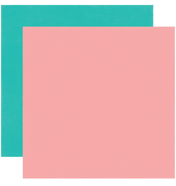Echo Park Happy Birthday Girl Solid Kit 12x12 Pink Teal Cardstock Paper