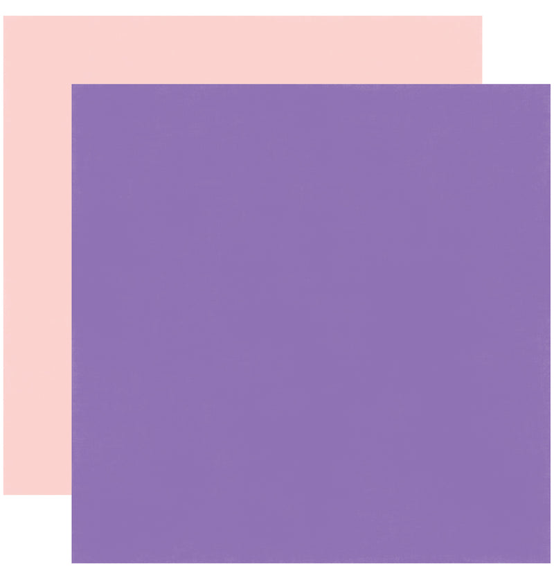 Echo Park Happy Birthday Girl Solid Kit 12x12 Purple Pink Cardstock Paper