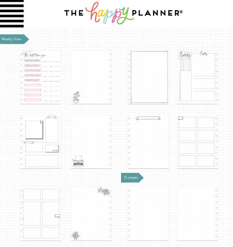 Dreamer Classic Happy Notes™ Journal Go After Your Dream Page Layouts